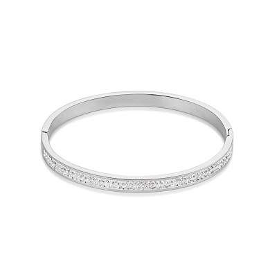 Coeur De Lion Stainless Steel & Crystals Pavé Crystal Bangle