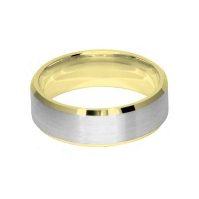 7mm Two Colour Di-Cut Wedding Ring Band