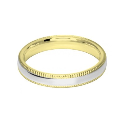 3mm Two Colour Dia-Cut Wedding Ring Band