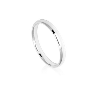 2.5mm Classic White Gold Wedding Ring Band