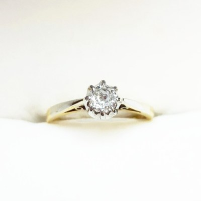 Second Hand Solitaire Diamond '1940s' Ring, 0.25ct