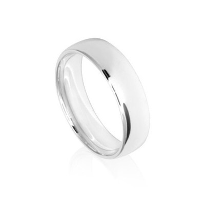 6mm Classic White Gold Wedding Ring Band