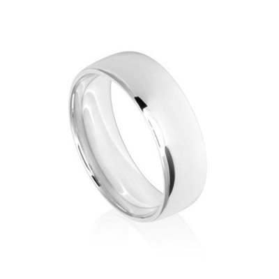 7mm Classic White Gold Wedding Ring Band
