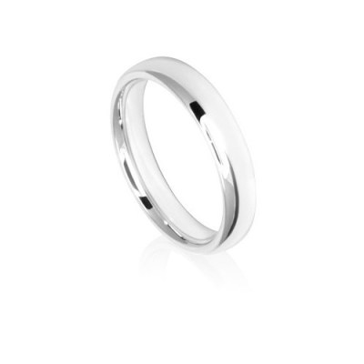 4mm Low Dome Comfort Fit Wedding Ring Band