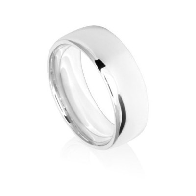 8mm Low Dome Comfort Fit Wedding Ring Band