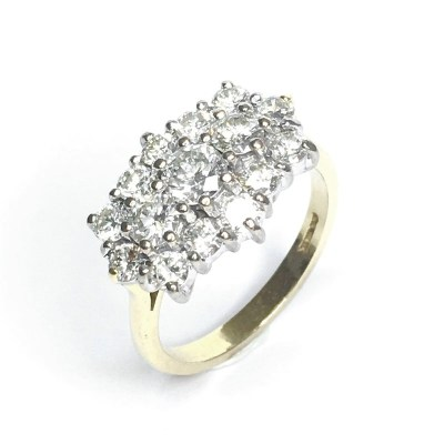 Second Hand 18ct Yellow Gold Diamond Ring, 2.00ct
