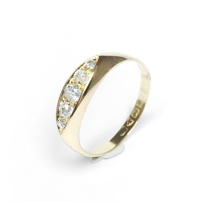 Second Hand 18ct Yellow Gold Diamond Ring – Chester 1912 Hallmarked