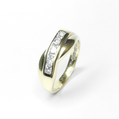 Second Hand 18ct Yellow Gold Diamond Ring, 0.40ct
