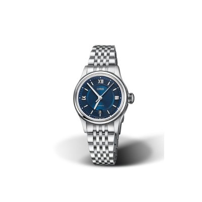 Oris Classic Date Blue Dial Ladies Watch