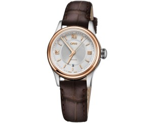 An image of an Oris Classic Date Silver Ladies front facing watch
