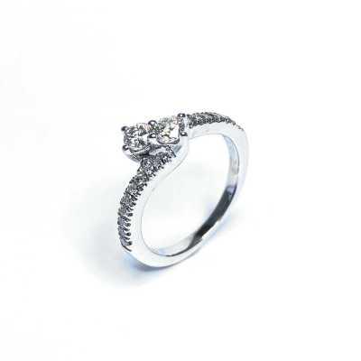Second Hand 14ct White Gold Diamond Ring