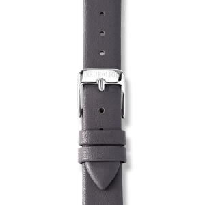 Watch Round Silver Sunray Bracelet Leather Anthracite