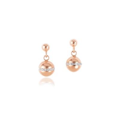 Coeur De Lion Earrings Rose Gold Crystal