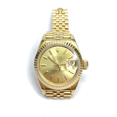 Second Hand Ladies Rolex Datejust 18ct Yellow Gold Jubilee Bracelet