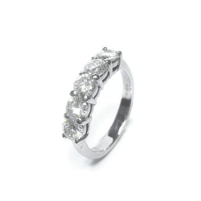 Second Hand 18ct White Gold Diamond 5 Stone Ring