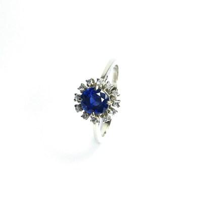 Second Hand 14ct Yellow Gold Sapphire & Diamond Ring