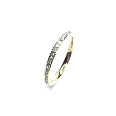 18ct Rose Gold Princess Cut Diamond Wedding Ring