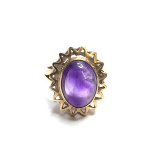 Second Hand 14ct Yellow Gold Amythyst Ring