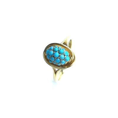 Second Hand 18ct Yellow Gold Turquoise Ring