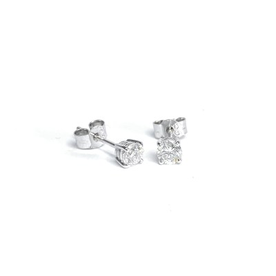 Second Hand 18ct White Gold Diamond Stud Earrings