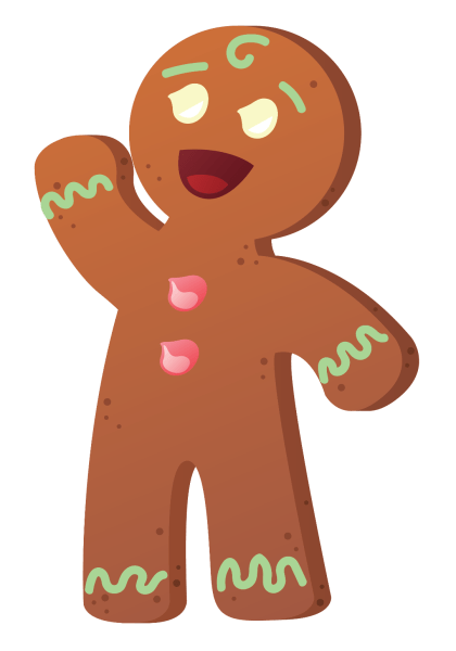 drawing of gingerbread man