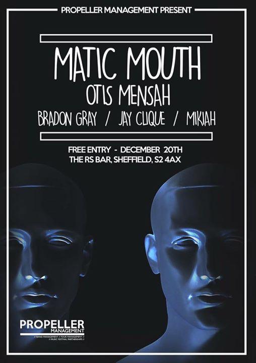 Jay Clique and Otis Mensah at The RS Bar Sheffield poster - performances