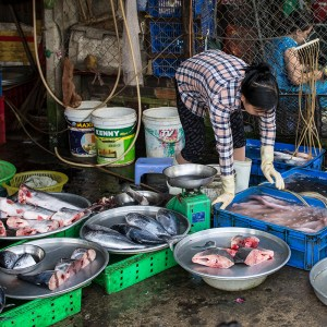 Seafood at local market place Ho Chi Minh City District 9