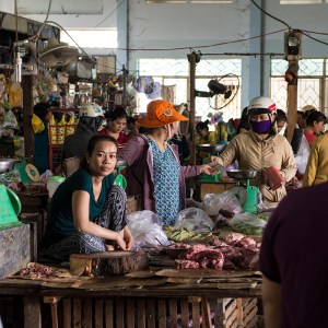 Fresh meat at Phan Rang fresh market