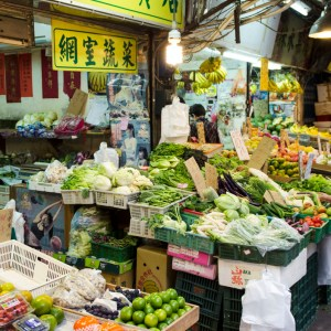 Typical small neighborhood market - Taipei, Taiwan