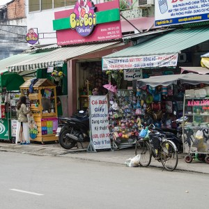 Souvenir Shop along the street in Ho Chi Minh City