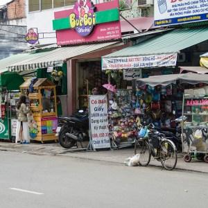 Souvenir Shop along the street in Ho Chi Minh City