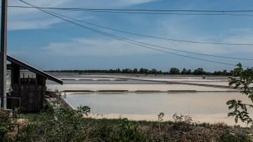 Salt fields along side the Mae Klong train
