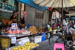 Fresh fruits at the Maha Chai Market