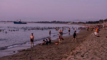 Early morning swim in Phan Rang Bay