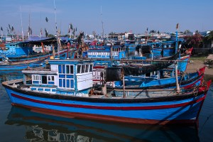 Fishing village boats