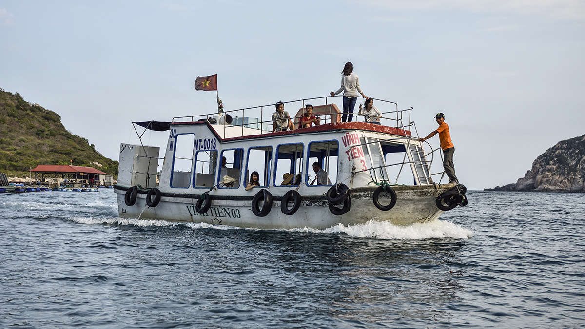 Just one of those amazingly carefree days cruising around Vinh Hy Bay in Viet Nam!