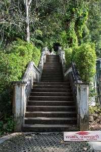 This is the first of many sets of stairs to the top of Kathu waterfalls.