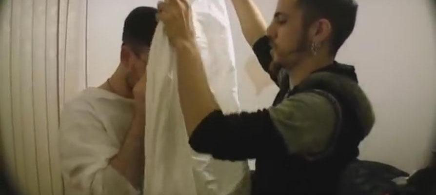 The Making of Neil Halsteads' Elevenses - Jayel Draco fitting Ghost Costume on Actor