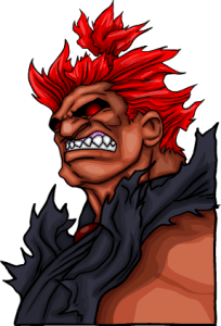Jayel vs. Akuma - Animation - Akuma Portrait