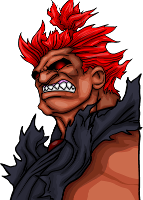 Jayel vs. Akuma - Animation - Akuma Portrait