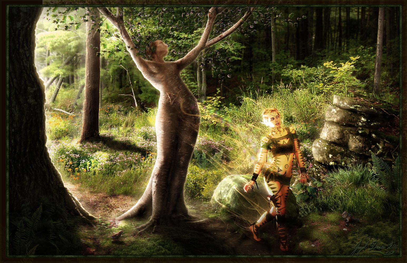 A DRYADS HOPE - Photography and Fantasy Photmanipulation by Jayel Draco