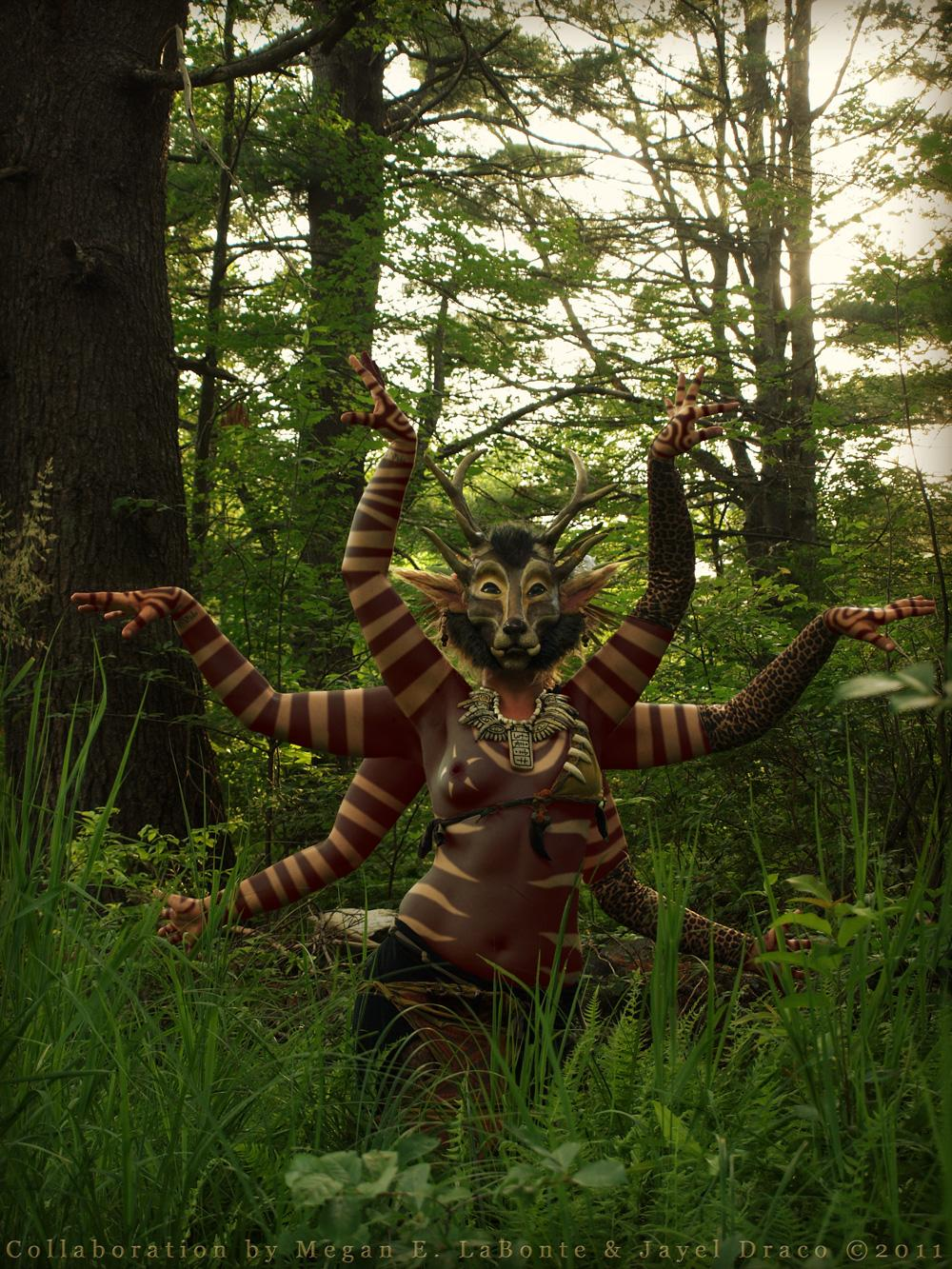 FOREST DEITY - Cotume, Photography, and Photomanipulation by Jayel Draco
