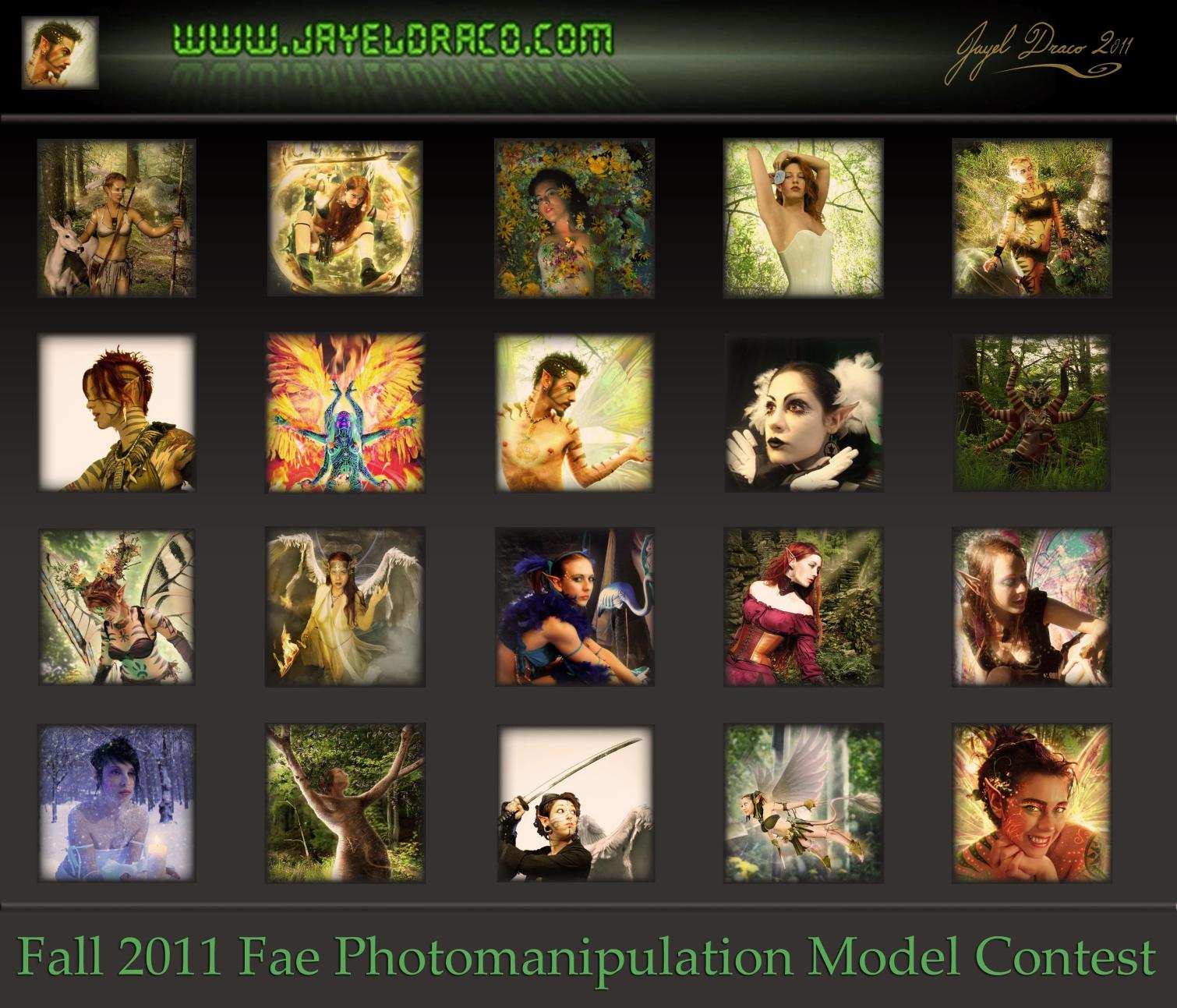 Jayel Draco's Fall 2011 - Photomanipulation Model Contest Flyer