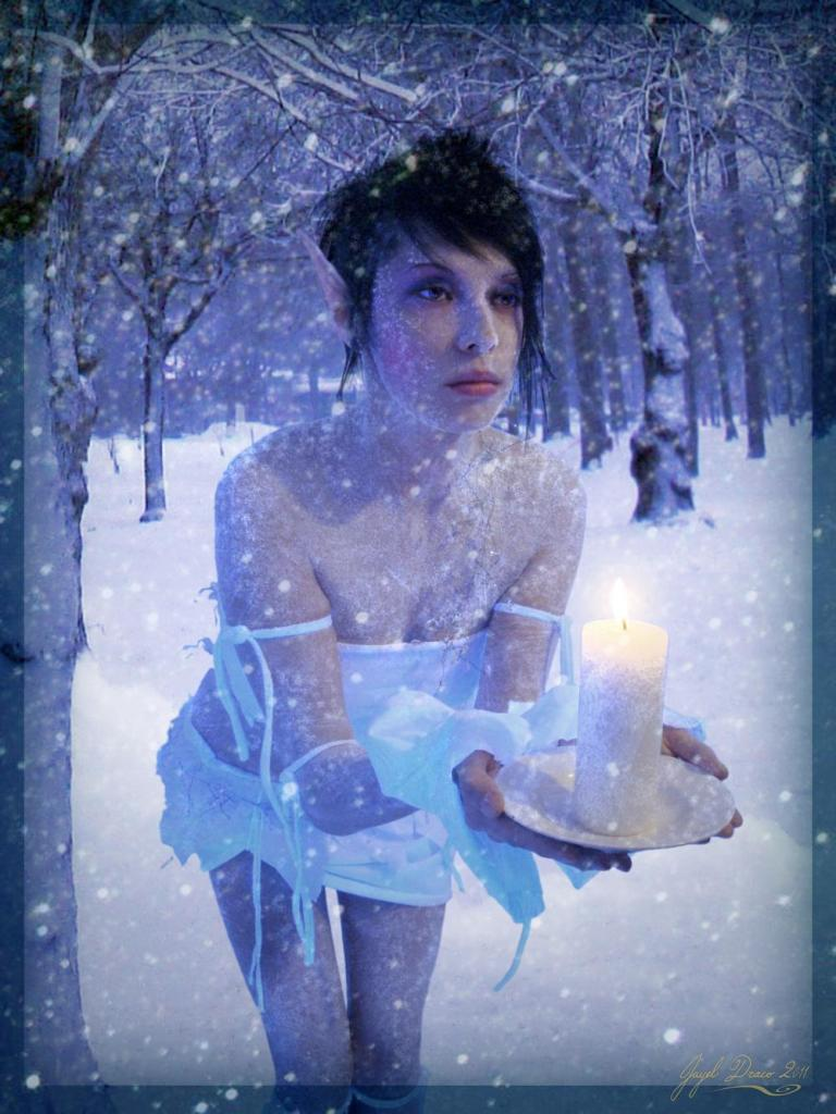 FROST NOX - a winter fae - Costume, Photography, Photomanipulation by jayel Draco