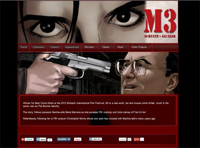 m3comic.com – website designed by Jayel Draco