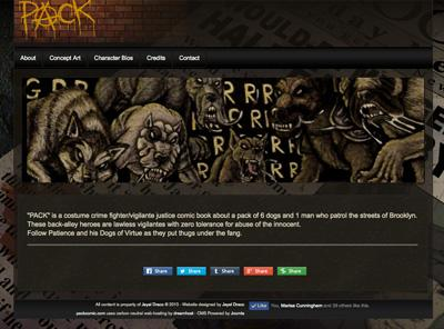 packcomic.com – website designed by Jayel Draco
