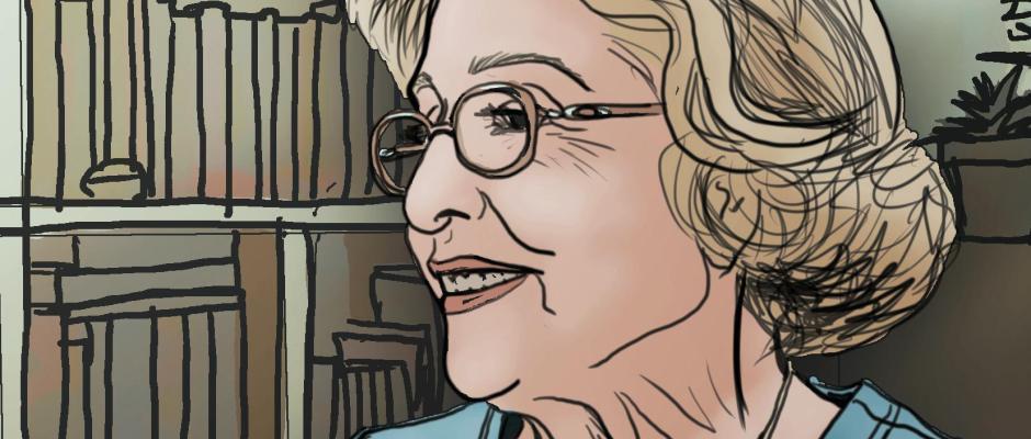 "A portrait of my Nonna, or Grandmother, Alda Rose ""Chichi"" Hodgskin"