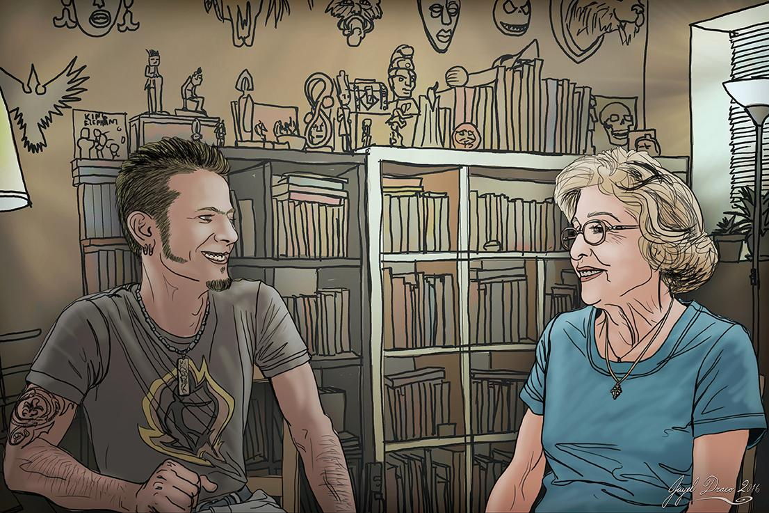 Interview with my Nonna - Illustration by Jayel Draco