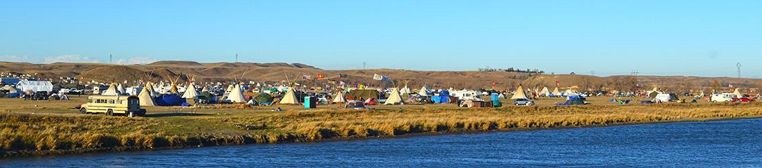 Oceti Sakowin along the Cannon Ball River