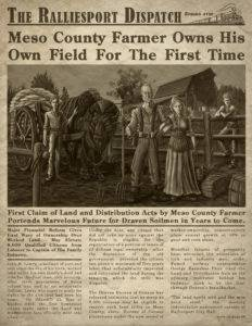 The Lowry Farm newspaper article from Children of Gaia: War & Horses